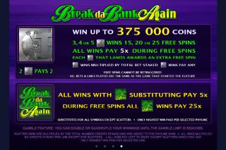 Break da Bank Again Jackpot Features