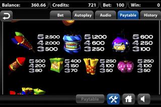 Boomanji Paytable