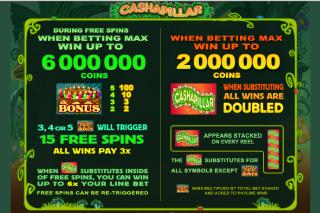 Cashapillar Slot Bonus Features