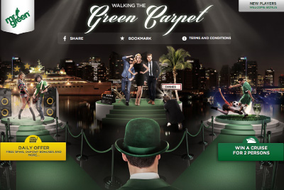 Win a Cruise with Mr Green - Walking the Green Carpet