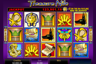 Treasure Nile Slot Screenshot