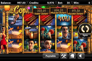 At The Copa Mobile Slot Screenshot