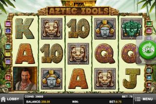 Aztec Idols Mobile Slot Screenshot