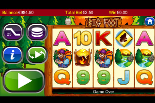 Big Foot Mobile Slot Screenshot