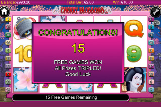 Cherry Blossoms Free Spins
