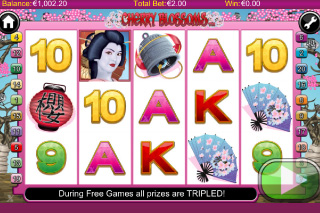 Cherry Blossoms Mobile Slot Screenshot