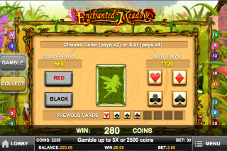 Enchanted Meadow Gamble Feature