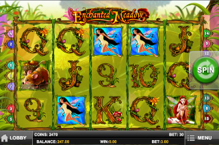 Enchanted Meadow Mobile Slot Screenshot