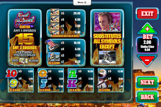 Evel Knievel Paytable