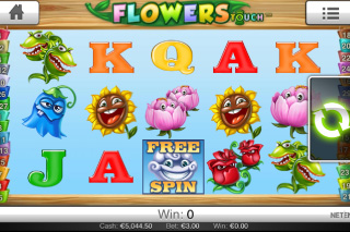 Flowers Touch Mobile Slot Screenshot