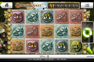 Gonzo's Quest Mobile Slot Screenshot