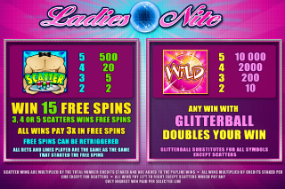 Ladies Nite Bonuses