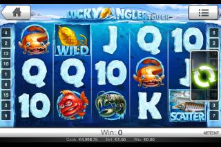 Lucky Angler Mobile Slot Screenshot