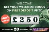 Get 20 Free Spins on Starburst, Victorious, Mega Fortune or Robin Hood (UK only)