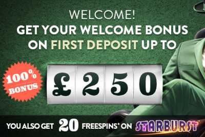 Get 20 Free Spins on Starburst, Victorious, Mega Fortune or Robin Hood (UK only)