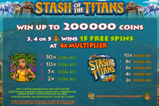 Stash of the Titans Bonus Table