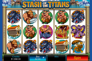 Stash of the Titans Mobile Slot Screenshot