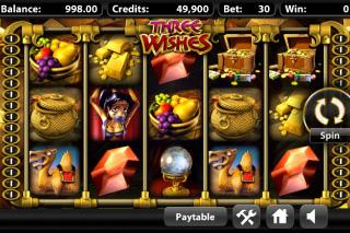 Three Wishes Mobile Slot Screenshot