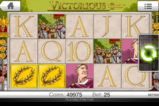 Victorious Mobile Slot Screenshot