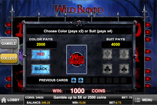 Wild Blood Gamble Feature