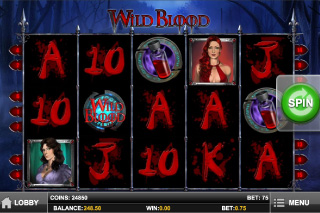 Wild Blood Mobile Slot Screenshot