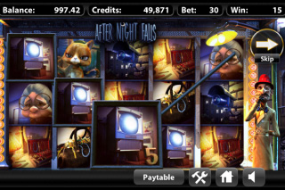 After Night Falls Mobile Slot Screenshot