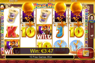 Foxin' Wins Mobile Slot Screenshot