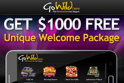 Go Wild Mobile Casino of the Month - 200% up to 200 Bonus