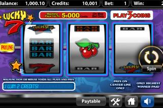 Lucky 7 Mobile Slot Screenshot