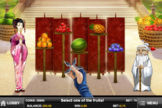 Ninja Fruits Bonus Game