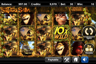 Safari Sam Mobile Slot Screenshot