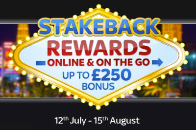 Sky Vegas Stakeback Rewards - Get up to £250