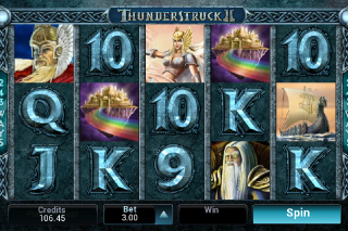 Thunderstruck 2 Mobile Slot Screenshot