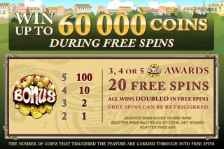 Voila 60,000 Coins Jackpot