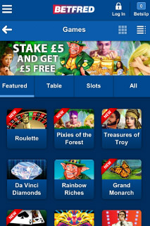 BetFred Mobile Casino IGT Games