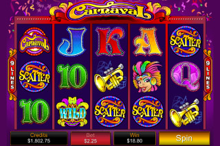 Carnaval Mobile Slot Screenshot