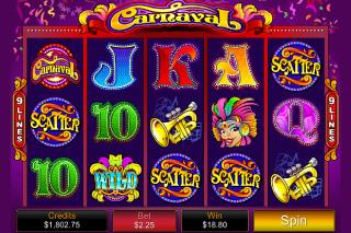 Carnaval Mobile Slot Screenshot