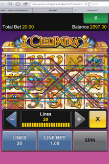 Cleopatra Mobile Slot Paylines