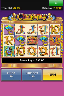 Cleopatra Mobile Slot Screenshot