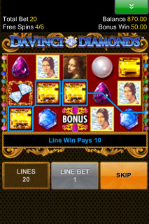 Da Vinci's Diamonds Free Spins