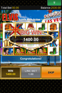 Elvis Mobile Slot Big Win