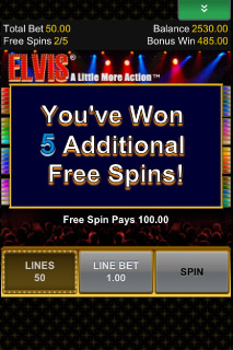 Elvis Mobile Slot Free Spins