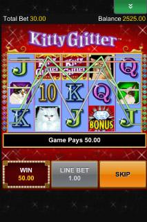 Kitty Glitter Mobile Slot Win