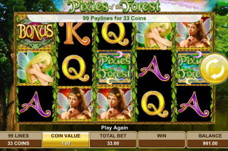 Pixies of the Forest Mobile Slot Screenshot