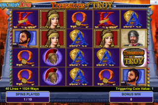 Treasures of Troy Free Spins