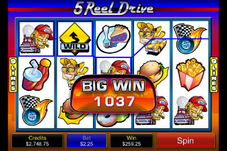 5 Reel Drive Mobile Slot Big Win