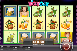 A Night Out Mobile Slot Screenshot