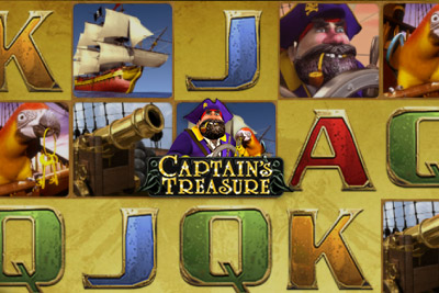 Captain's Treasure Mobile Slot Logo
