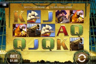 Captain's Treasure Mobile Slot Screenshot
