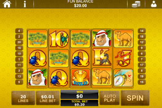 Desert Treasure Mobile Slot Screenshot